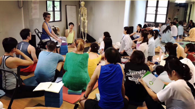 Teaching Ayurveda and Anusara Yoga in China